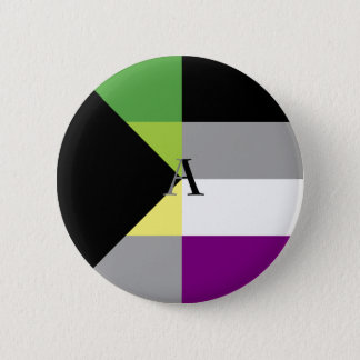 Chapa Redonda De 5 Cm Pin asexual del as de Demiromantic Demi
