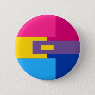 Chapa Redonda De 5 Cm Pin bisexual de Panromantic
