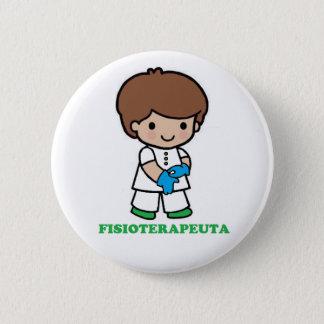 Chapa Redonda De 5 Cm Pin de chico fisioterapeuta