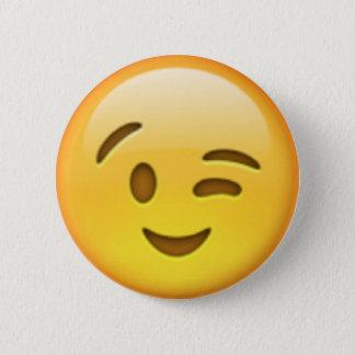 Chapa Redonda De 5 Cm Pin de Emoji del guiño