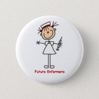 Chapa Redonda De 5 Cm Pin de futura enfermera