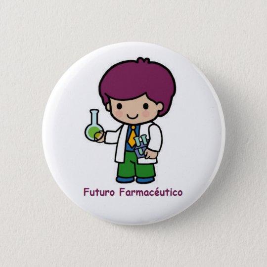 Chapa Redonda De 5 Cm Pin de futuro farmacéutico