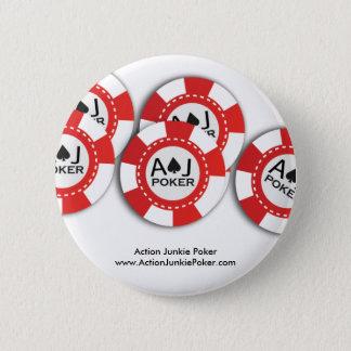 Chapa Redonda De 5 Cm Pin de la ficha de póker