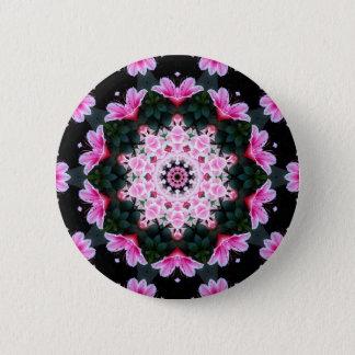 Chapa Redonda De 5 Cm Pin de la mandala de la flor
