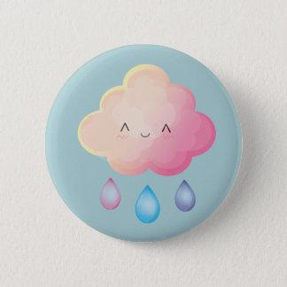 Chapa Redonda De 5 Cm Pin de la nube de Kawaii