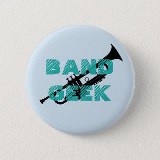 Chapa Redonda De 5 Cm Pin de la trompeta del friki de la banda