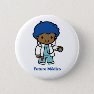 Chapa Redonda De 5 Cm Pin de médico