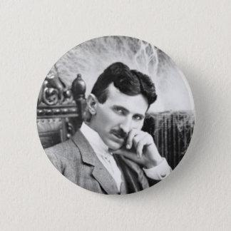 Chapa Redonda De 5 Cm Pin de Nikola Tesla