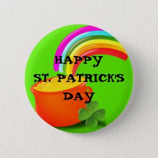 Chapa Redonda De 5 Cm Pin del día de St Patrick del oro de O del pote