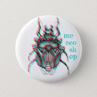 Chapa Redonda De 5 Cm Pin del escarabajo de Meecoshop 3D