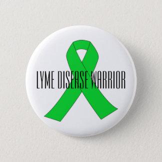 Chapa Redonda De 5 Cm Pin del guerrero de la enfermedad de Lyme
