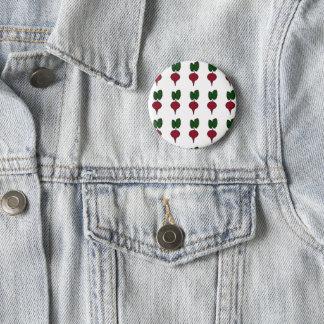 Chapa Redonda De 5 Cm Pin del vegano con las remolachas