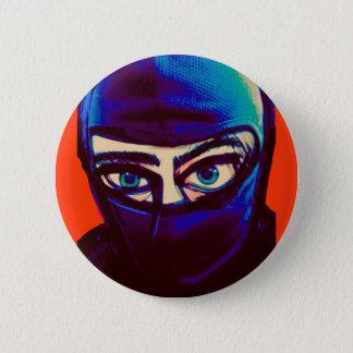 Chapa Redonda De 5 Cm Pin disimulado de Ninja