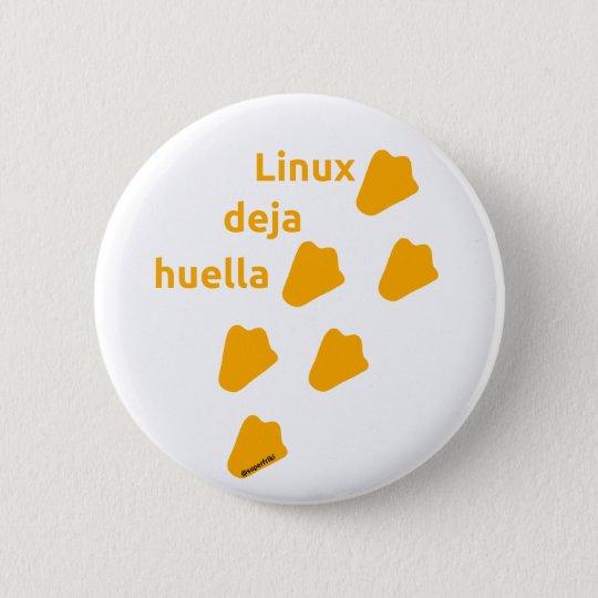 Chapa Redonda De 5 Cm pin linux