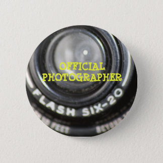 Chapa Redonda De 5 Cm Pin oficial del fotógrafo