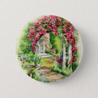 Chapa Redonda De 5 Cm Pin precioso del jardín