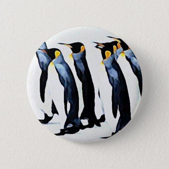 Chapa Redonda De 5 Cm Pingüino