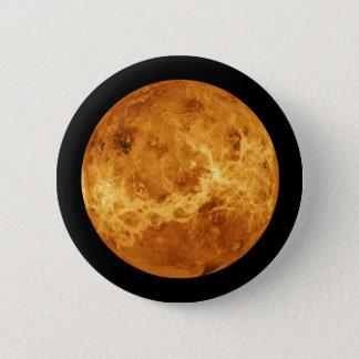 Chapa Redonda De 5 Cm Planeta Venus del espacio exterior