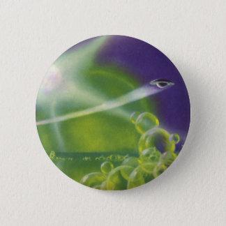 Chapa Redonda De 5 Cm Planeta verde de la burbuja de Sci Fi de la