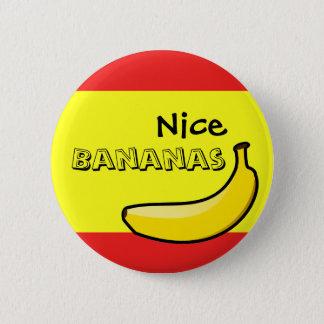 Chapa Redonda De 5 Cm Plátanos agradables