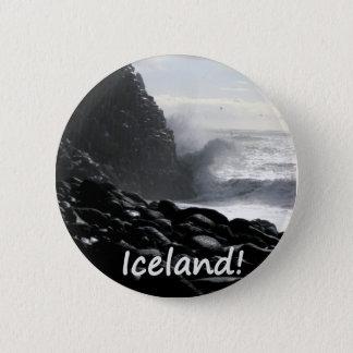 Chapa Redonda De 5 Cm Playa Islandia de Reynisfjara