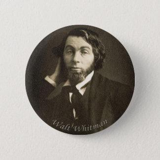 Chapa Redonda De 5 Cm Poeta Walt Whitman en New Orleans
