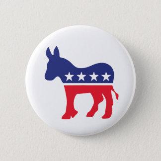 Chapa Redonda De 5 Cm Política Democratic del americano del burro