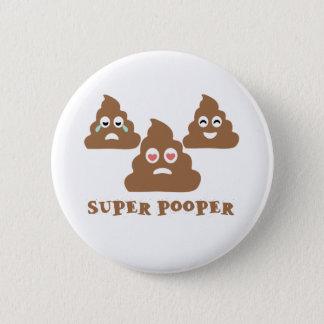 Chapa Redonda De 5 Cm Pooper estupendo Emoji