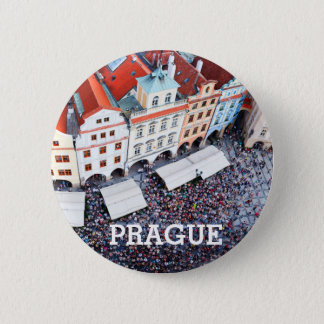 Chapa Redonda De 5 Cm Praga, República Checa