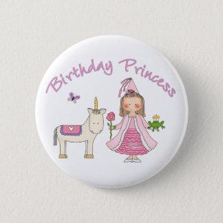 Chapa Redonda De 5 Cm Princesa Unicorn Birthday Girl