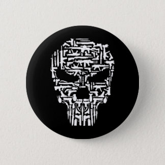 Chapa Redonda De 5 Cm Productos del cráneo y de los armas y de los