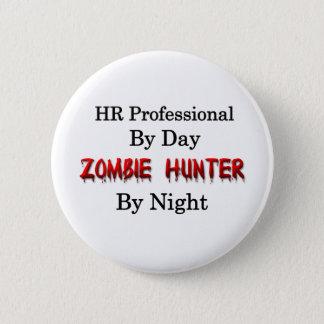 Chapa Redonda De 5 Cm Profesional de la hora/cazador del zombi