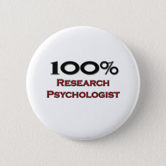 Chapa Redonda De 5 Cm Psicólogo de la investigación del 100 por ciento