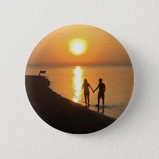 Chapa Redonda De 5 Cm Puesta del sol en Bali