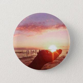 Chapa Redonda De 5 Cm Puesta del sol maravillosa e increíble en las