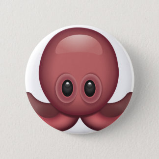 Chapa Redonda De 5 Cm Pulpo Emoji