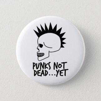 Chapa Redonda De 5 Cm Punks no absolutamente… con todo blanco del cráneo