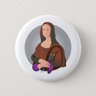 Chapa Redonda De 5 Cm Puntos de Mona