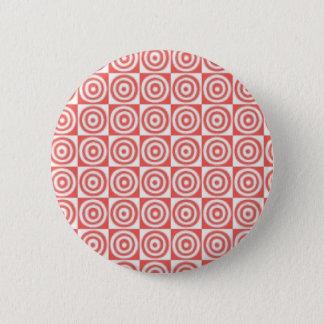 Chapa Redonda De 5 Cm Puntos rojos y blancos