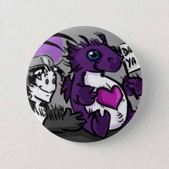 Chapa Redonda De 5 Cm Purple Care Dragon