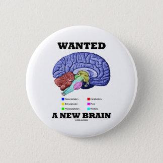 Chapa Redonda De 5 Cm Quiso un nuevo cerebro (la actitud anatómica del