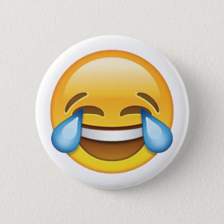 Chapa Redonda De 5 Cm Rasgones gritadores de risa del emoji de la
