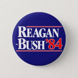 Chapa Redonda De 5 Cm Reagan Bush 84