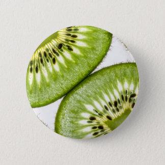 Chapa Redonda De 5 Cm Rebanadas jugosas del kiwi