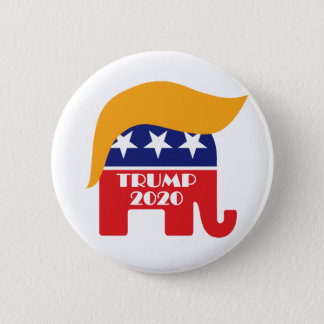 Chapa Redonda De 5 Cm Reelija el pelo 2020 del elefante del GOP de