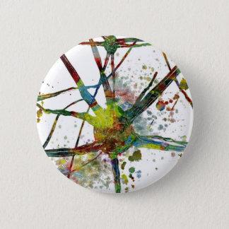 Chapa Redonda De 5 Cm Regalo abstracto médico de las sinapsis