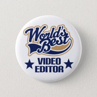 Chapa Redonda De 5 Cm Regalo del editor de vídeo (mundos mejores)