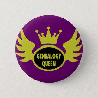 Chapa Redonda De 5 Cm Reina 2 de la genealogía
