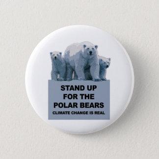 Chapa Redonda De 5 Cm Represente para arriba los osos polares