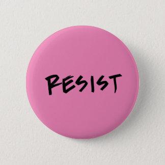 Chapa Redonda De 5 Cm Resista el botón, estándar, rosa o elija el color
